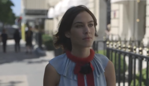 Screen shot of Alexa Chung in the Video