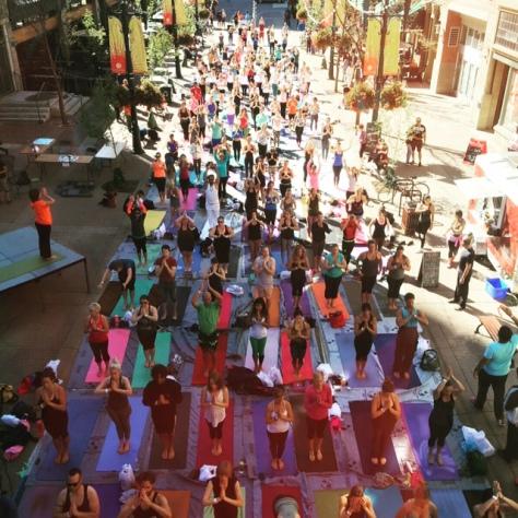 Yogathon 2015, Calgary, Canada