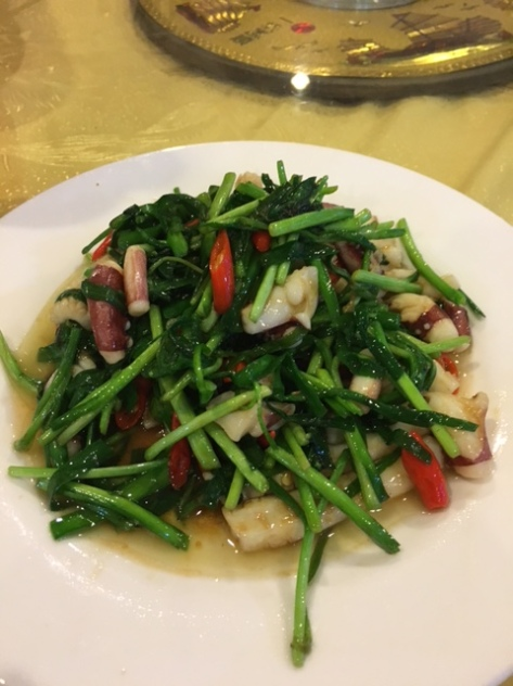 Squids with Green Vegetable